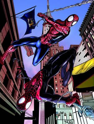 Spider-Men, Color by EpicBenjaminJ