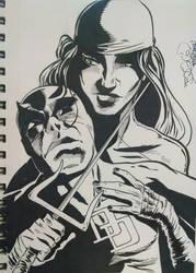 Daredevil and Elektra by EpicBenjaminJ