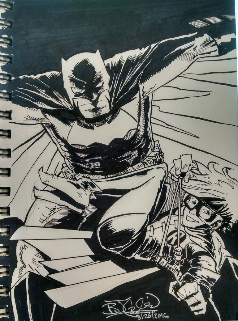 Dark Knight Returns Batman and Robin by EpicBenjaminJ