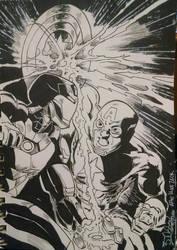 Captain America vs Iron Man by EpicBenjaminJ