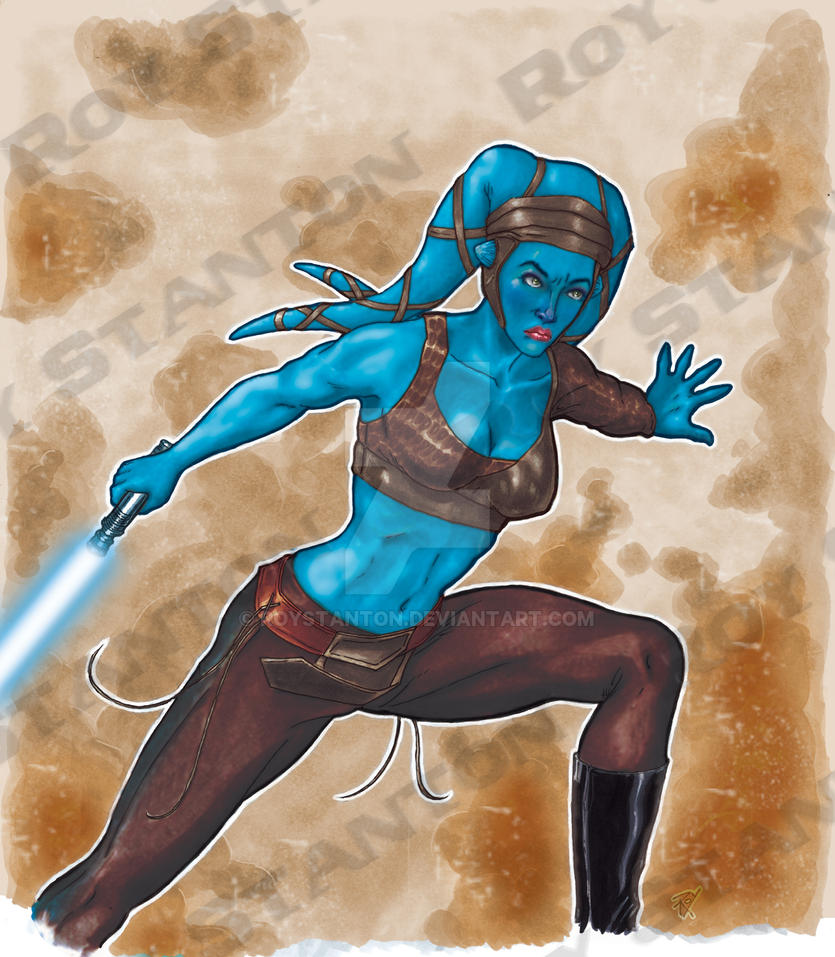 Aayla Secura color by RoyStanton