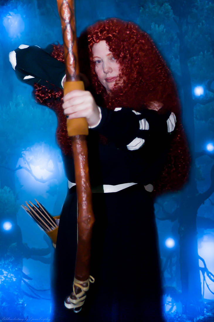 I am Merida, and I'll be shooting for my own hand by RowenaPunainen