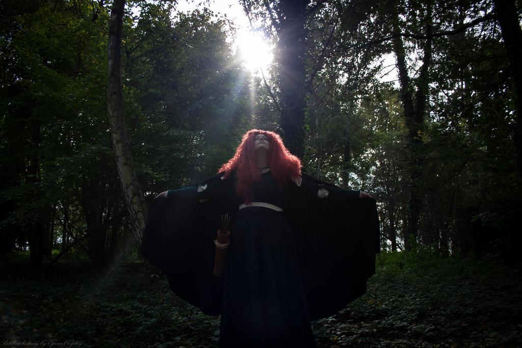 Merida - The Brave by RowenaPunainen