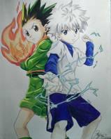 Gon and Killua From Hunter X Hunter by Mailee0321Vang