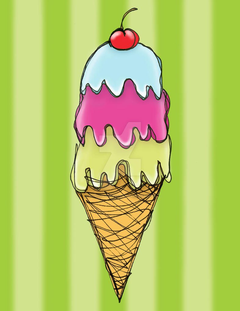 Triple Ice Cream by KandusJohnson