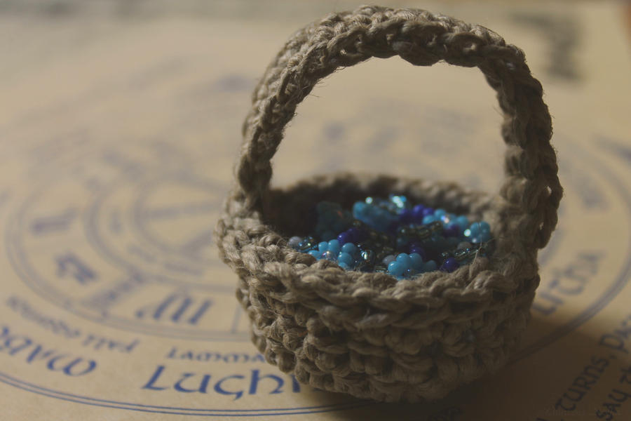 Flower beads in a basket by Seqbre