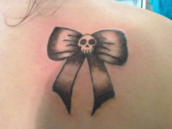 Skull Bow Tattoo Cute