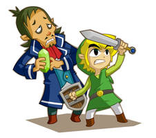 Link and Linebeck by nasakii