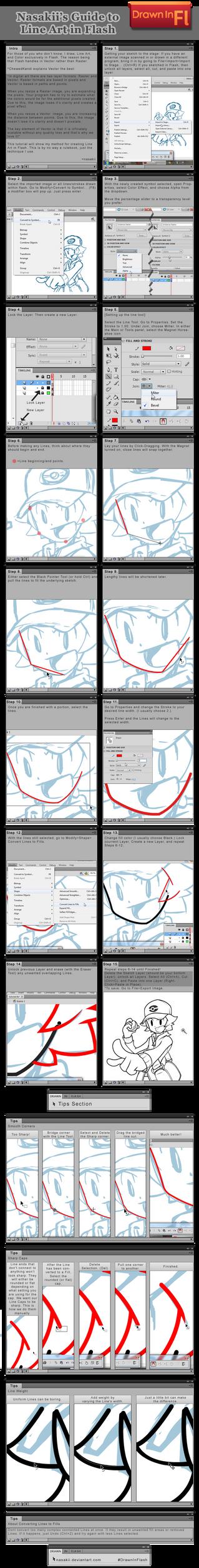 Flash Tutorial: Line Art by nasakii