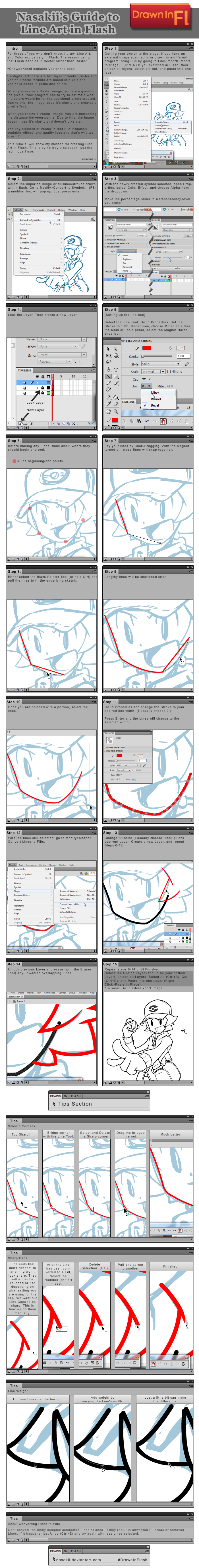 Line Art Tutorial Photo : Flash tutorial line art by nasakii on deviantart