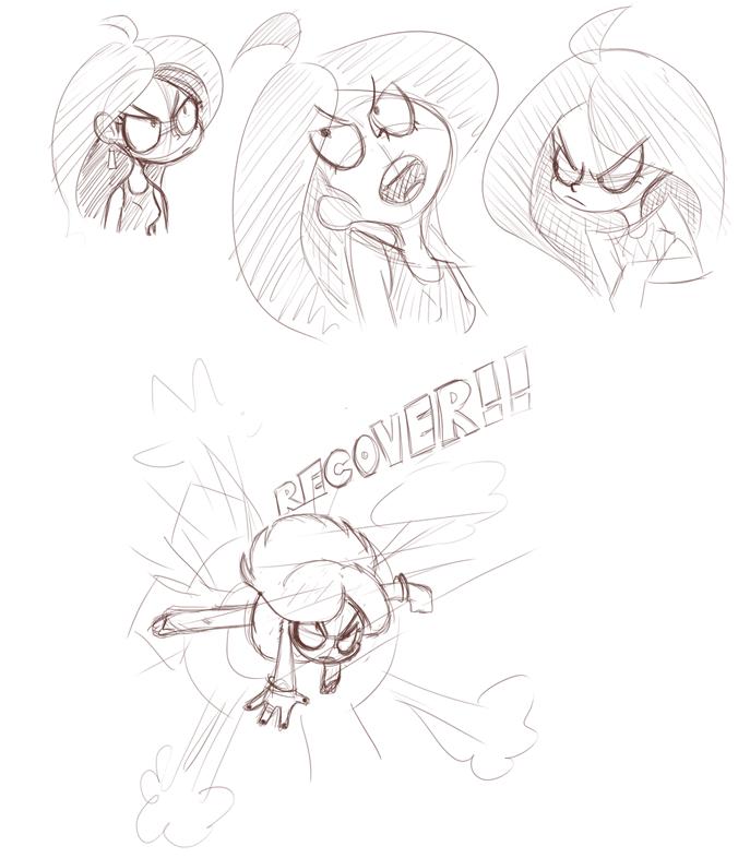 Shelly Haggar Sketches by nasakii