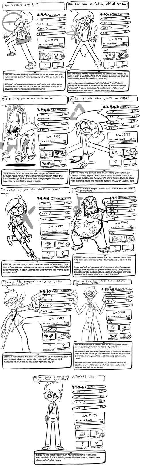 DV character BIOs by nasakii