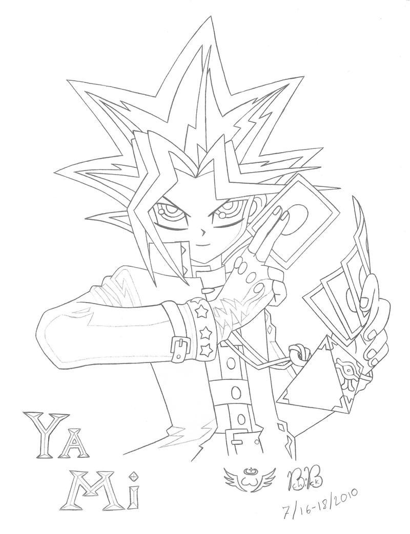 Line Art Là Gì : Yu gi oh yami lineart by raphesia on deviantart