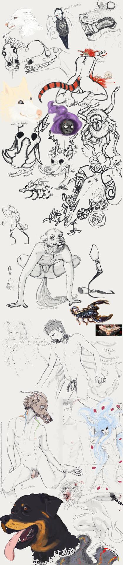 Sketch dump by Akuma-draw