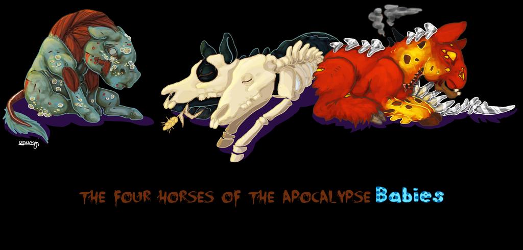 theFourHorsesoftheApocalypseBabies by Akuma-draw