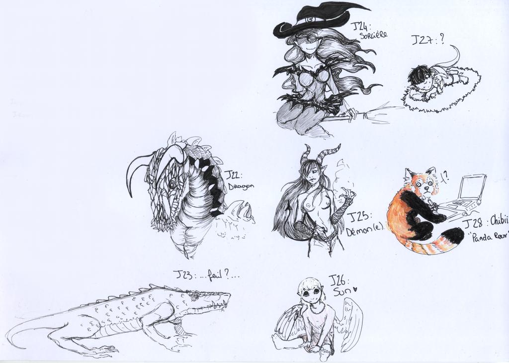 Inktober : Semaine 4 by Akuma-draw