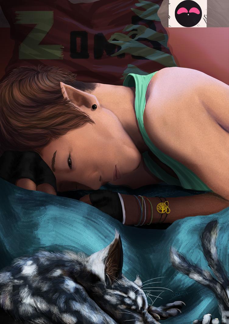 Sleepysleepy by Akuma-draw