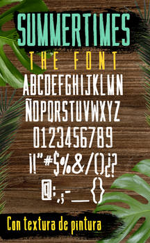 Summertimes Brushed Style Font