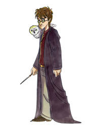 Harry and Hedwig by Hesstoons