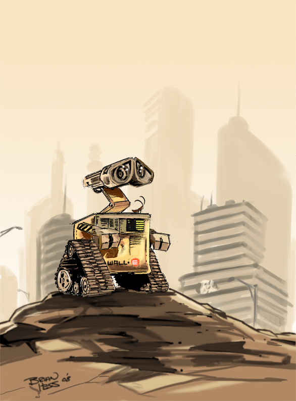 Good Morning Wall E by Hesstoons