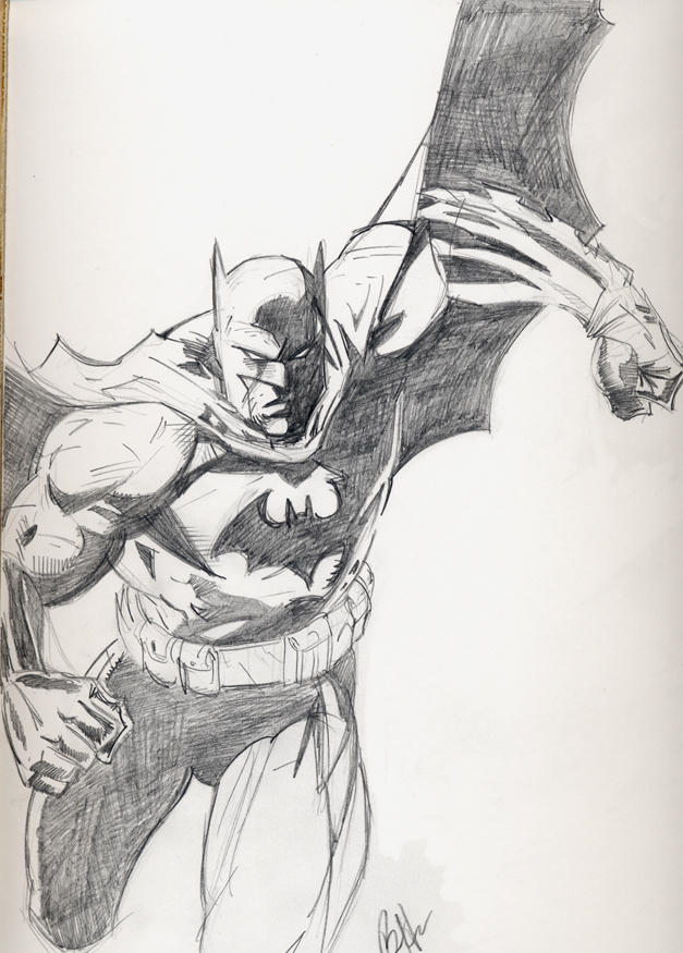 HUSH Batman sketch by Hesstoons