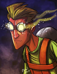 Glowing spectacles by Hesstoons