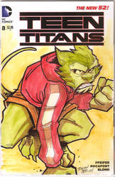 Teen Titans sketch cover Beast Boy