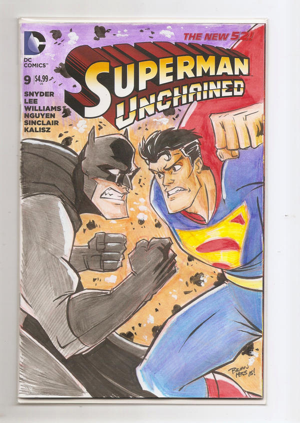 Superman Unchained sketch cover by Hesstoons