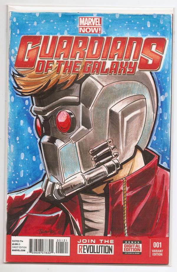 Star Lord sketch cover by Hesstoons