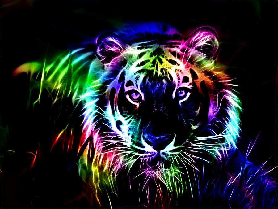 Fractal Tiger 2 by minimoo64