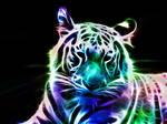 Fractal White Tiger