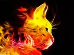 Fire Fractal Cat