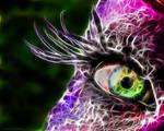 Fractal Eye Purple