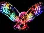 Fractal Owl in Flight