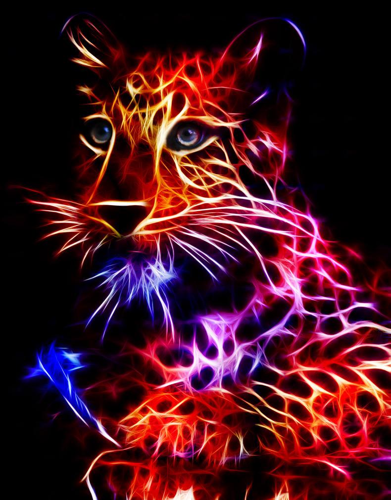tiger fractal cats e - photo #44