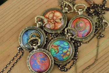 Colourful Steampunk Pendants