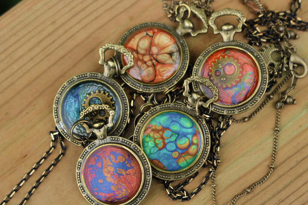 Colourful steampunk pendants by minimoo64 on deviantart colourful steampunk pendants by minimoo64 mozeypictures Gallery