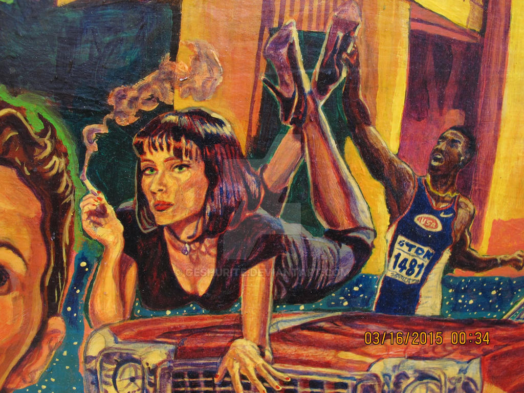 Pulp Fiction Uma Thurman Track And Field Star Acry By Geshurite