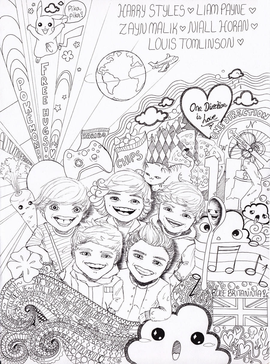 one direction wannabe doodle by autumnprincess on