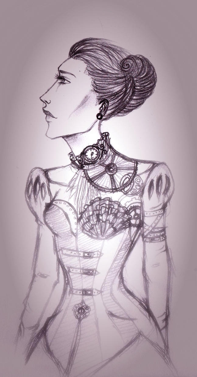 Steampunk Fashion Steampunk Fashion Sketch 5 by