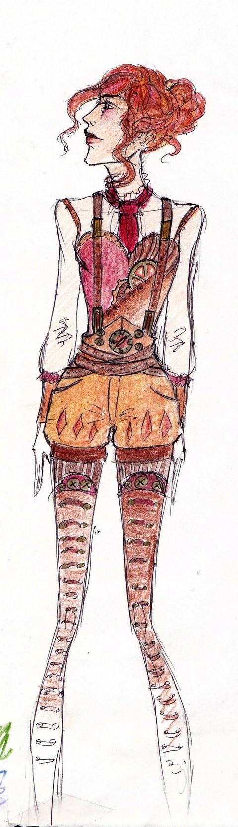 Steampunk Fashion Steampunk Fashion Sketch 6 by
