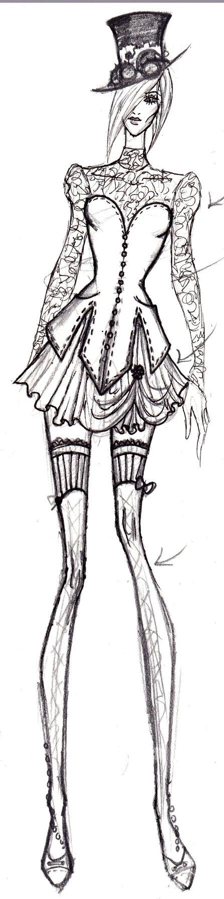 Steampunk Fashion Steampunk Fashion Sketch 8 by