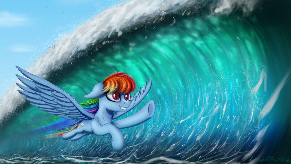 [Commission] Chasing the waves by AdagioString
