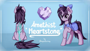 [Commission] Amethist Heartstone reference by AdagioString