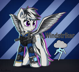 [Commission] Windstriker reference by AdagioString