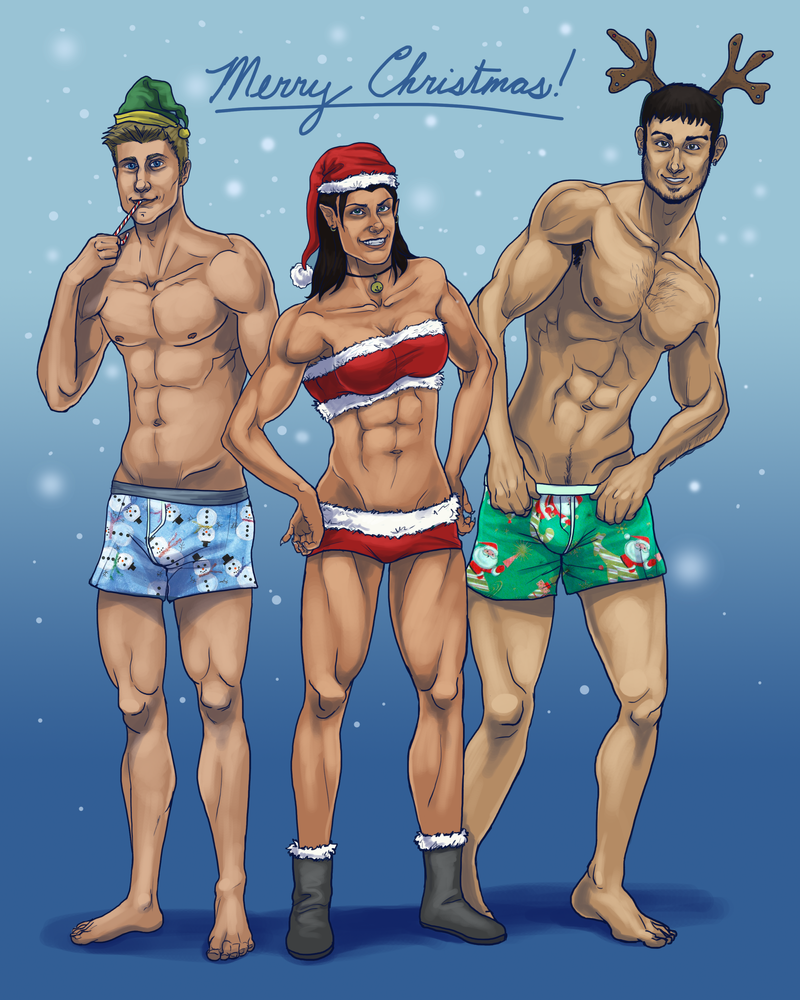MERRY SEXY CHRISTMAS by lycanthropeful