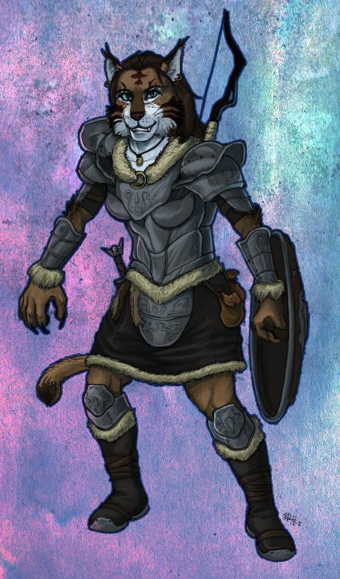 Khajiit Warrior by lycanthropeful