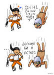 Portal 2 chibi comic