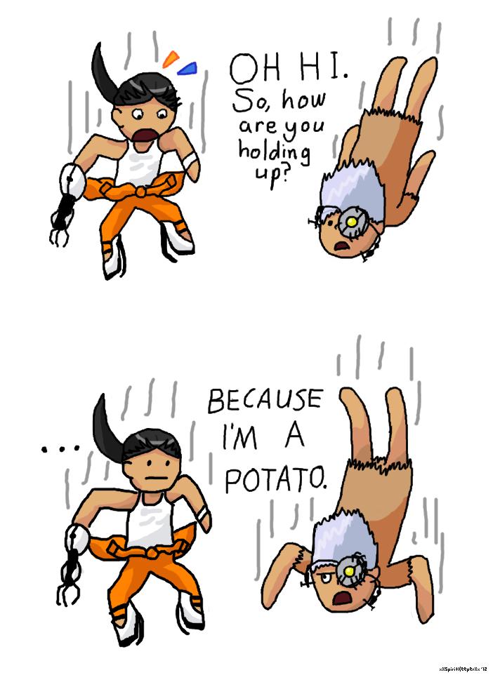 Portal 2 chibi comic by xXSpiritKeeperXx