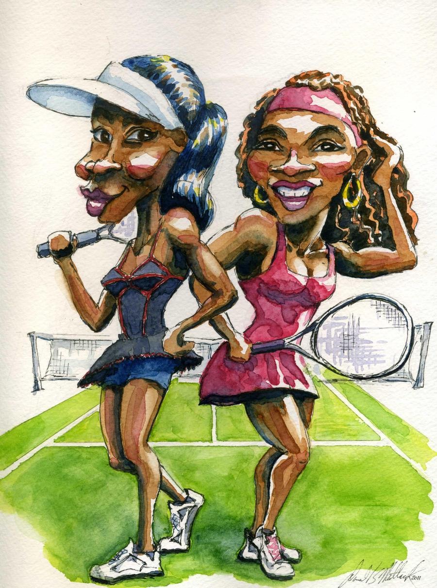 Venus n Serena by donaldmatlack